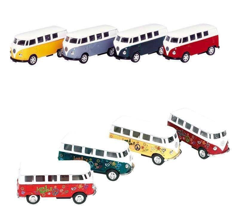 VW Bully Bulli Bus Modellauto Modell Auto Spritzguss mit Rückzugmotor
