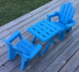 Kids Adirondack Table and Chair Set