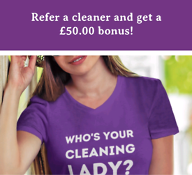 Experienced Self employed cleaners required