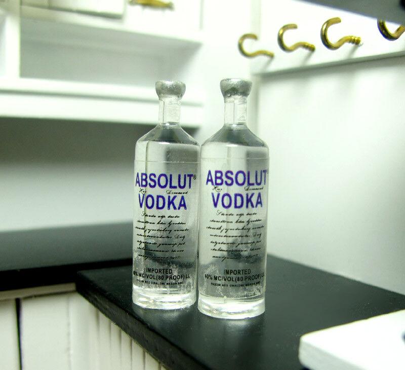 4PCS 1//6 Scale Miniature Dollhouse Wine Bottle Vodka Drinks Model Doll Toy AF