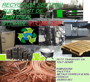 Montreal south west junk removal /  Ramassage de débris Sud-Oues