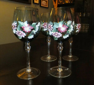 Hand-painted Wine Glasses