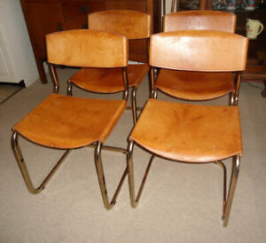 MCM  Dining Table Set with Leather Chairs