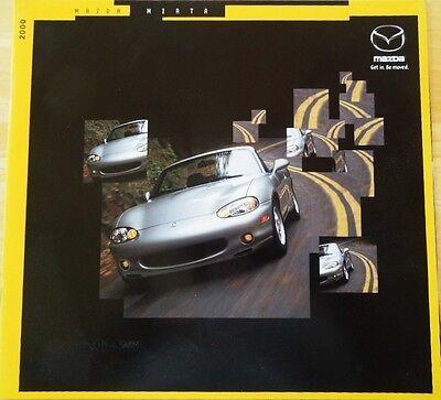 2000 Mazda Miata & Miata LS Large 14-Page  Dealer Sales Brochure