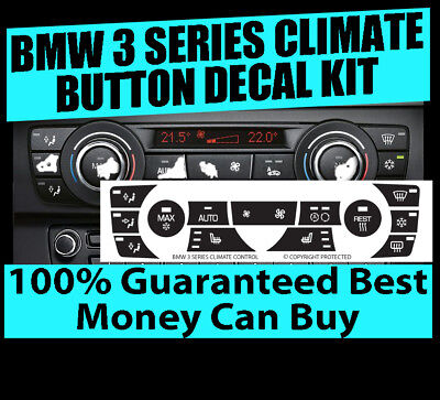 2011 2013 Bmw 328I 335I Climate Ac Button Repair Decals Sticker Kit
