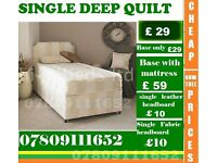 New Single / Double / King Size Bed base with Mattress