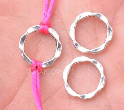 Flower Connector - 30pcs Tibetan silver flower ring beads beads Connectors findings 14mm A3154