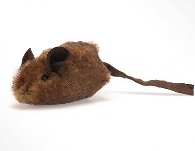 MOUSE HUNTER CAT TOY-Play N' Squeak - ELECTRONIC SQUEAKER - BROWN, MADE IN USA !