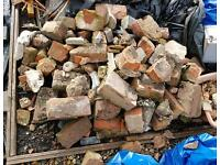 Broken rubble bricks