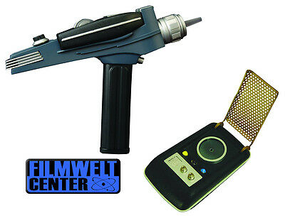 Star Trek Classic PHASER + Communicator 2 Teile Set mit Licht und Sound ovp