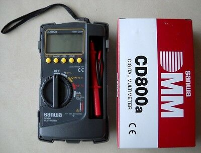 Sanwa Digital Multimeter Cd800a Dmm 4000 Volt Counter Tester Meter