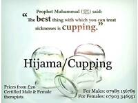 Hijama/Wet Cupping Male & Female therapists NOW includes **6** cups