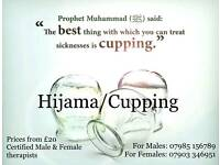 Hijama/Wet Cupping Male & Female therapists NOW includes *6* cups