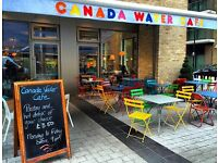 Waiter for Italian classic menu - friendly and stylish Canada Water Cafe SE16 - £8.60 + tips