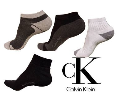 CALVIN KLEIN 100% GENUINE 3 PAIRS MENS LADIES SPORT TRAINER SOCKS BNWT UK 6-11 Calvin Klein Sport Socks