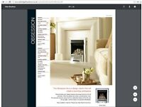 Valor Obsession 0574011 Gas fire in Chrome BNIB