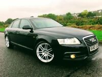 2010 AUDI A 6 2.0TDI S LINE IN PHANTOM BLACK WITH UPGRADE LE MANS ALLOYS