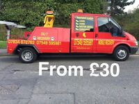 RECOVERY 24/7 CAR/VAN/ caravan from £30 Leicestershire based all Leicester coverd