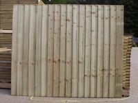 Vertical Close Board Flat Top Feather Edge Fence Panel Tanalised Pressure Treated Made To Measure