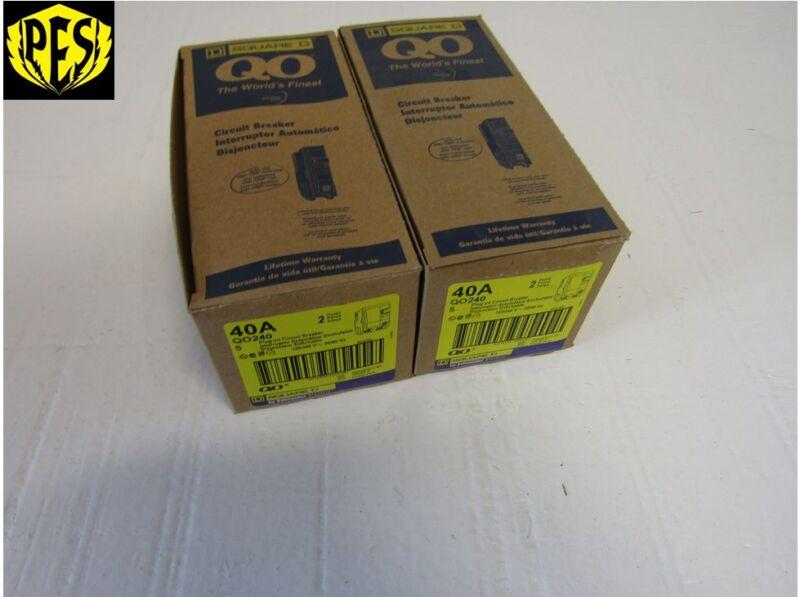 SQUARE D QO240 2 POLE 40 AMP 120/240V PLUG-IN QO CIRCUIT BREAKER *NEW*