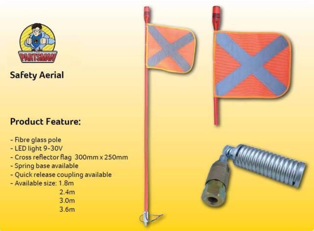 Brand New 4wd Saftey Flag 2 4m Sand Flag High Visibility