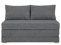 Mint Condition John Lewis Kip Sofa Bed - Riley Nordic Blue rrp£499