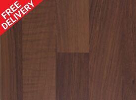 3000 x 600 x 40mm Blocked Walnut Satin Kitchen Worktop - BRAND NEW