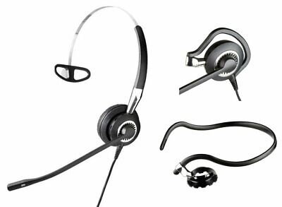 Used, Jabra BiZ 2400 Mono 3-in-1 Noise-Canceling Desk Phone QD Headset 2406-820-105 for sale  Shipping to India
