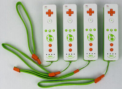 Nintendo Wii U Official Motion Plus Remote Controller Yoshi Limited Bundle Of 4!