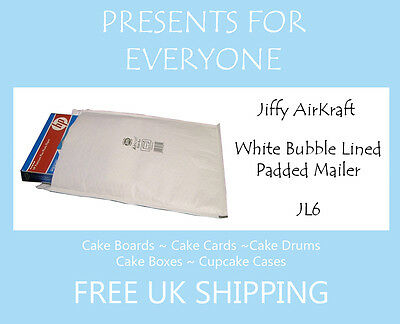 5 x Jiffy Airkraft White Bubble Lined Postal Padded Mailing Bags JL6 J/6
