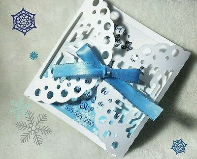 10 Baby shower Invitations Cards personalized Snowflake Winter White](Snowflake Baby Shower)
