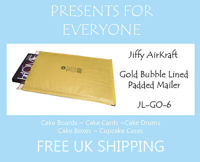 25 x Jiffy Airkraft Gold Bubble Lined Postal Padded Mailing Bags JL-GO-6 J/6