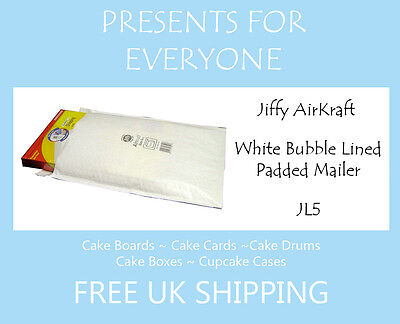 25 x Jiffy Airkraft White Bubble Lined Postal Padded Mailing Bags JL5 H/5