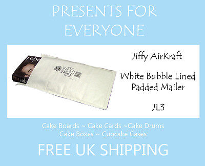 5 x Jiffy Airkraft White Bubble Lined Postal Padded Mailing Bags JL3 F/3
