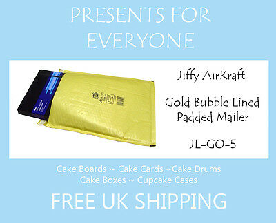 5 x Jiffy Airkraft Gold Bubble Lined Postal Padded Mailing Bags JL-GO-5 H/5