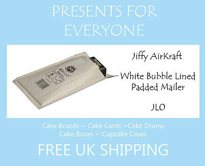 5 x Jiffy Airkraft White Bubble Lined Postal Padded Mailing Bags JL0 C/0