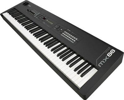 Yamaha Mx88 Music Synthesizer 88-key Piano Action Black Elec