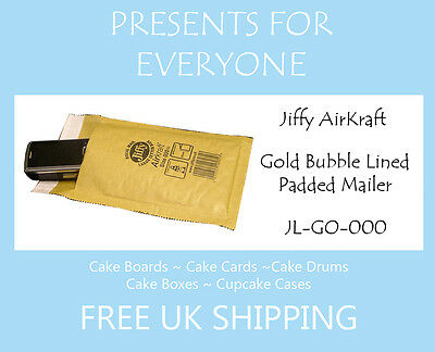 10 x Jiffy Airkraft Gold Bubble Lined Postal Padded Mailing Bags JL-GO-000 A/000
