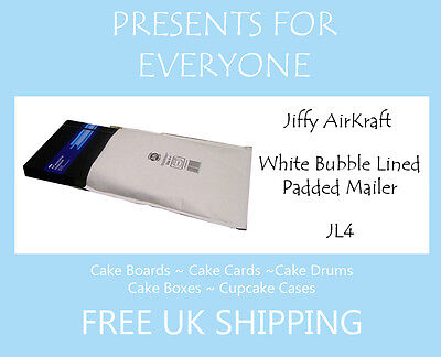 50 x Jiffy Airkraft White Bubble Lined Postal Padded Mailing Bags JL4 G/4