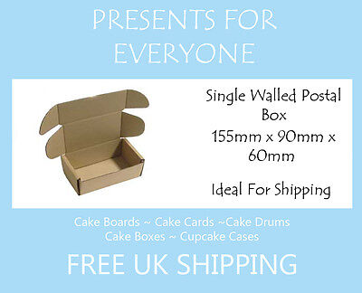 5 x Cardboard Postal Moving Storage Boxes 155mm x 90mm x 60mm
