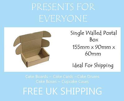 400 x Cardboard Postal Moving Storage Boxes 155mm x 90mm x 60mm
