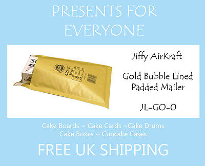 10 x Jiffy Airkraft Gold Bubble Lined Postal Padded Mailing Bags JL-GO-0 C/0