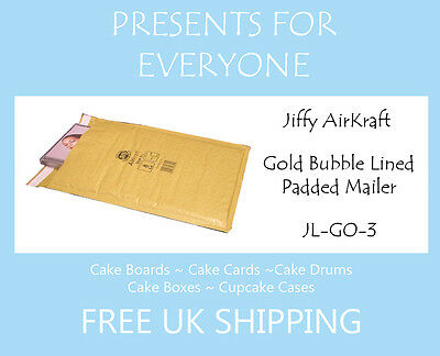 50 x Jiffy Airkraft Gold Bubble Lined Postal Padded Mailing Bags JL-GO-3 F/3
