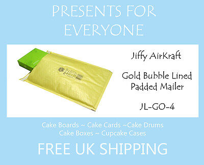 50 x Jiffy Airkraft Gold Bubble Lined Postal Padded Mailing Bags JL-GO-4 G/4