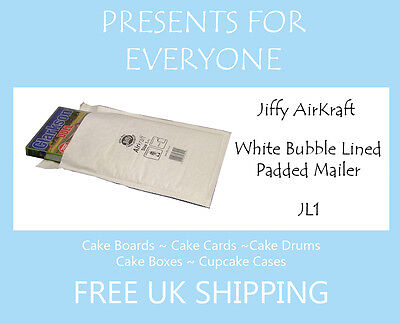 50 x Jiffy Airkraft White Bubble Lined Postal Padded Mailing Bags JL1 D/1 DVD