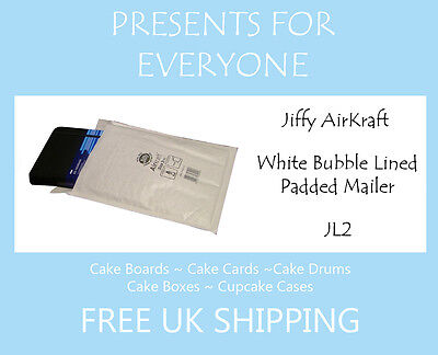 10 x Jiffy Airkraft White Bubble Lined Postal Padded Mailing Bags JL2 E/2