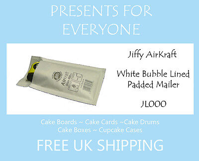 5 x Jiffy Airkraft White Bubble Lined Postal Padded Mailing Bags JL000 A/000