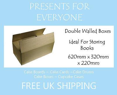 5 x Postal & Moving Boxes Storage Boxes 24.5