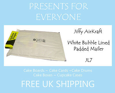 25 x Jiffy Airkraft White Bubble Lined Postal Padded Mailing Bags JL7 K/7