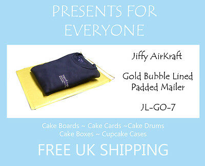 25 x Jiffy Airkraft Gold Bubble Lined Postal Padded Mailing Bags JL-GO-7 K/7
